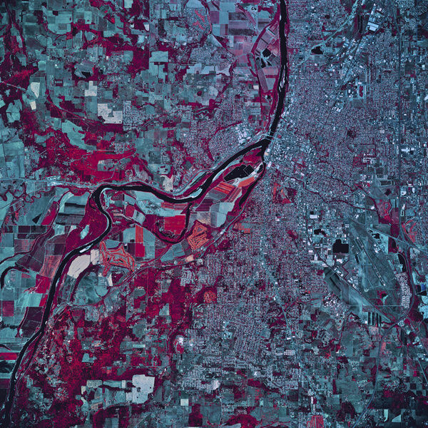 Satellite view of Salem, Oregon, 1984