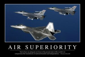 Air Superiority: Inspirational Quote and Motivational Poster
