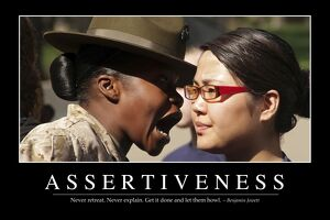 Assertiveness: Inspirational Quote and Motivational Poster