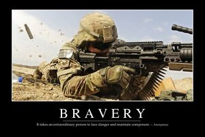 Bravery: Inspirational Quote and Motivational Poster