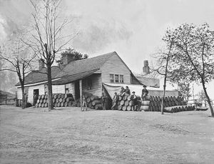 Commissary headquarters, Rocky Face Ridge, Georgia, during the American Civil War