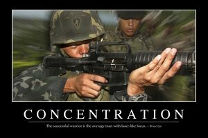 Concentration: Inspirational Quote and Motivational Poster