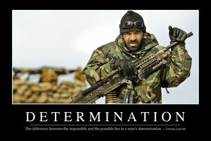 Determination: Inspirational Quote and Motivational Poster
