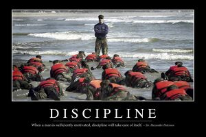 Discipline: Inspirational Quote and Motivational Poster