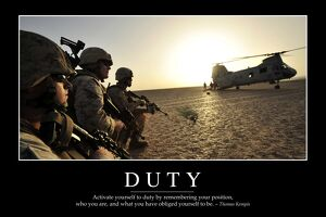 Duty: Inspirational Quote and Motivational Poster