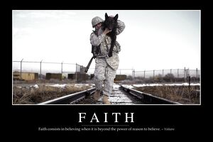 Faith: Inspirational Quote and Motivational Poster