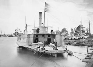 Ferry boat altered to gunboat during the American Civil War