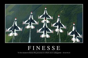Finesse: Inspirational Quote and Motivational Poster