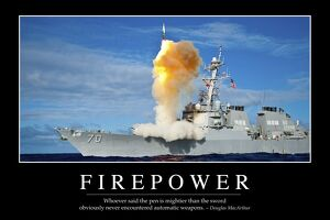 Firepower: Inspirational Quote and Motivational Poster