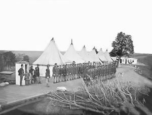 Infantry Company on Parade during the American Civil War