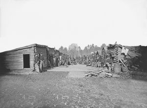 Infantry winter quarters during the American Civil War