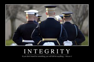 Integrity: Inspirational Quote and Motivational Poster