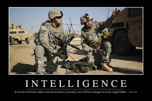 Intelligence: Inspirational Quote and Motivational Poster