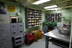 Mail room aboard USS Missouri