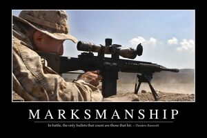 Marksmanship: Inspirational Quote and Motivational Poster