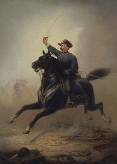 Painting of General Philip Sheridan making his famous ride from Winchester