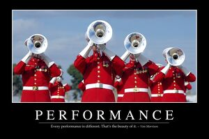 Performance: Inspirational Quote and Motivational Poster