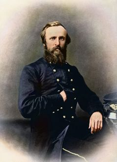 Portrait of Rutherford B. Hayes while in service during the American Civil War