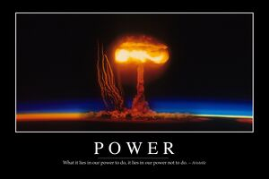 Power: Inspirational Quote and Motivational Poster