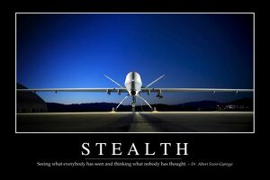 Stealth: Inspirational Quote and Motivational Poster