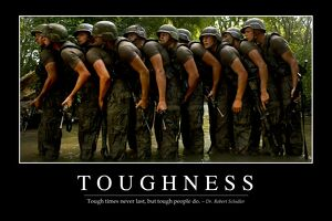Toughness: Inspirational Quote and Motivational Poster