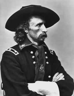 Vintage American Civil War photo of Major General George Armstrong Custer