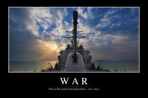 War: Inspirational Quote and Motivational Poster