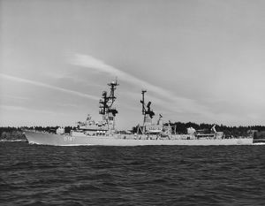 The West German Navy guided missile destroyer Rommel, 1970